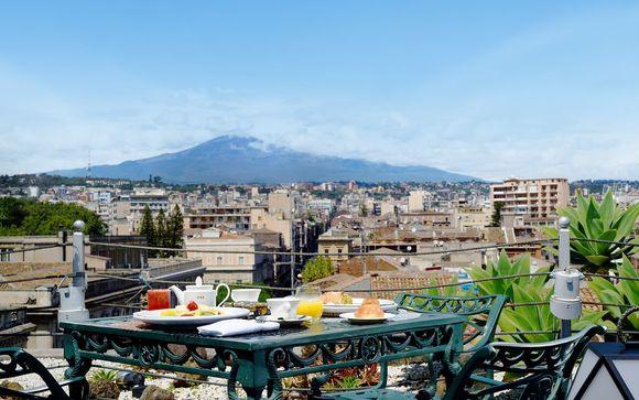 Lusso nel centro città con vista mozzafiato sull'Etna