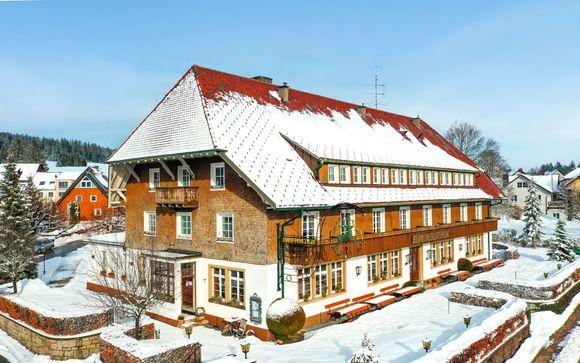Tipico hotel nella Foresta Nera con mezza pensione